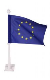 EU Autofahne mit Wappen