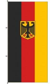Deutschland Flagge mit Adler und Karabinerkonfektion