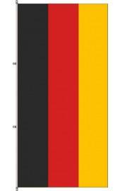 Deutschland Flagge mit Karabinerkonfektion