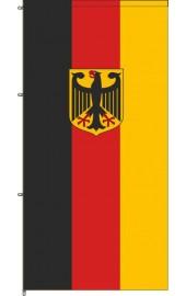 Deutschland Auslegerfahne mit Adler und Karabinerkonfektion