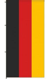 Deutschland Auslegerfahne mit Karabinerkonfektion