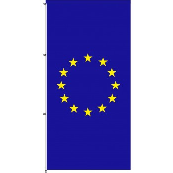 EU Auslegerfahne mit Karabinerkonfektion